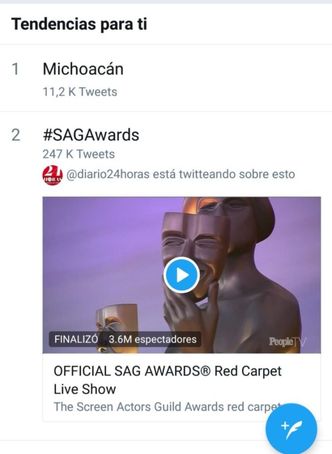 Michoacan tendencia en Twitter por inseguridad
