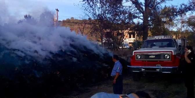 Bomberos sofocan incendio en Zinapécuaro
