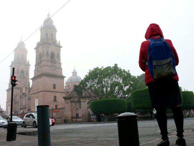 Morelia inicia el martes con 4°C