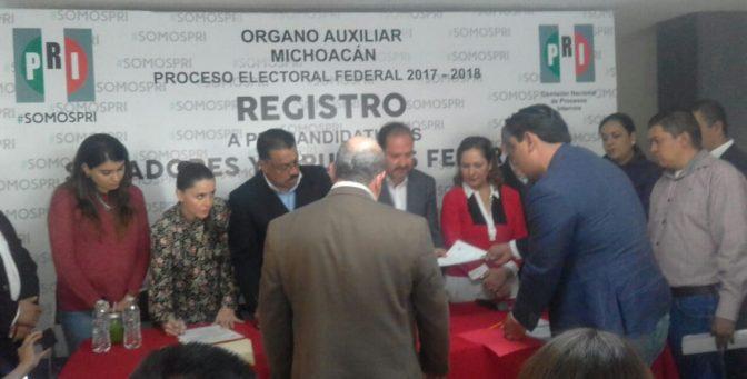 PRI Michoacán reporta 32 pre registros por candidaturas federales