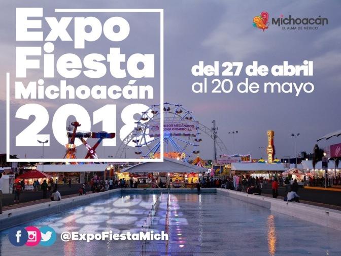 Anuncia Gobierno del Estado fechas de la Expo Fiesta Michoacán 2018