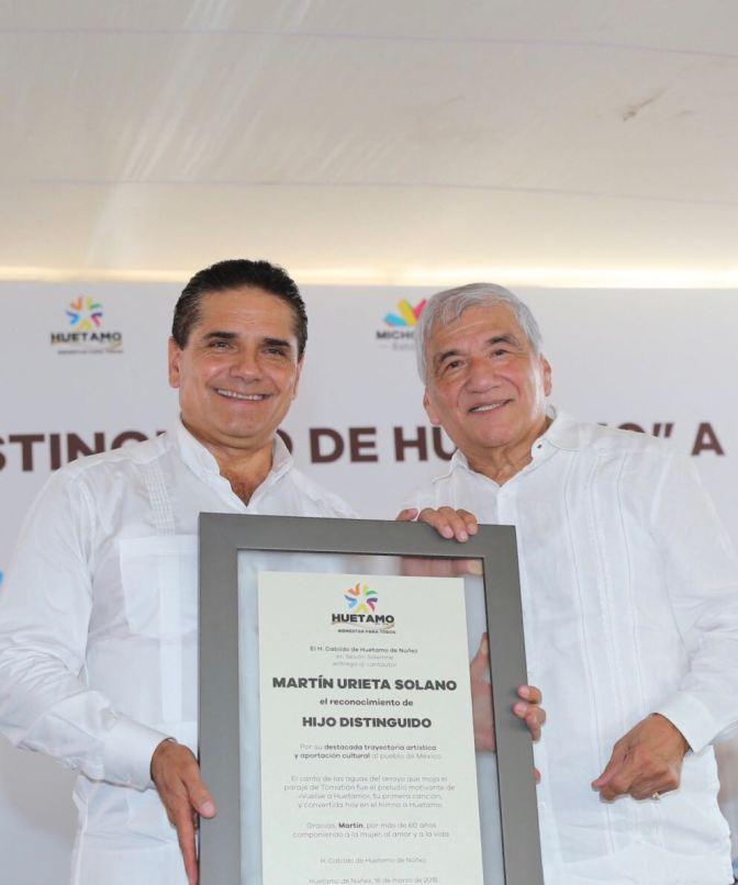 """Reconocen a compositor Martín Urieta como """"hijo distinguido"""" de Huetamo"""