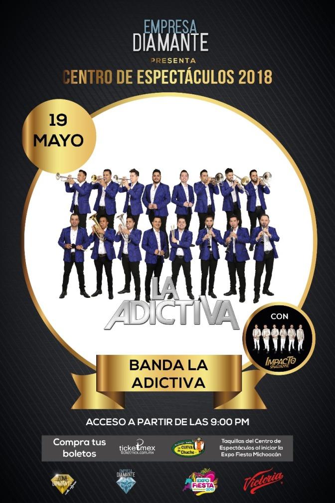 Esta noche, Banda La Adictiva en el Centro de Espectáculos