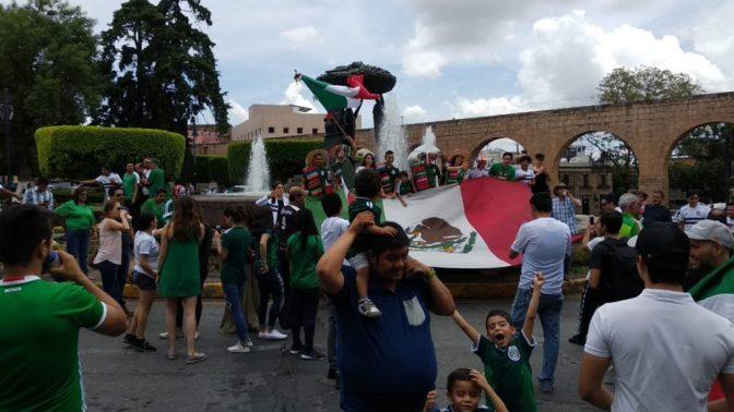 Morelia vive euforia mundialista tras victoria de la Selección Mexicana