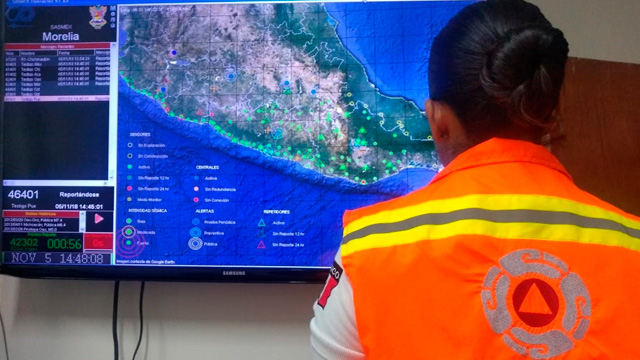 Realizan simulacro de alerta de tsunami en Lázaro Cárdenas